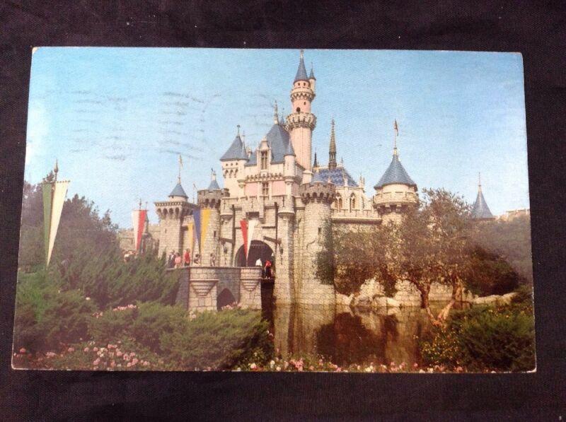 Vintage Disneyland Sleeping Beauty Castle Fantasyland Color Postcard Posted 1963