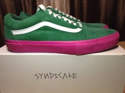 Vans Old Skool Pro Syndicate (Golf Wang) Green/Pink - Size 11.0 ~ Brand New!