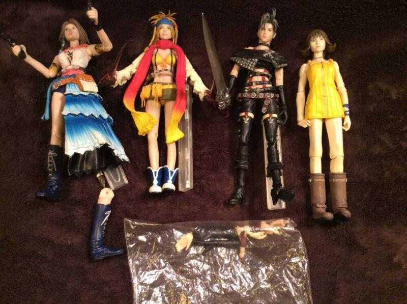 Play Arts Square Enix Final Fantasy X-2 Action Figure Lot Yuna Rikku Paine