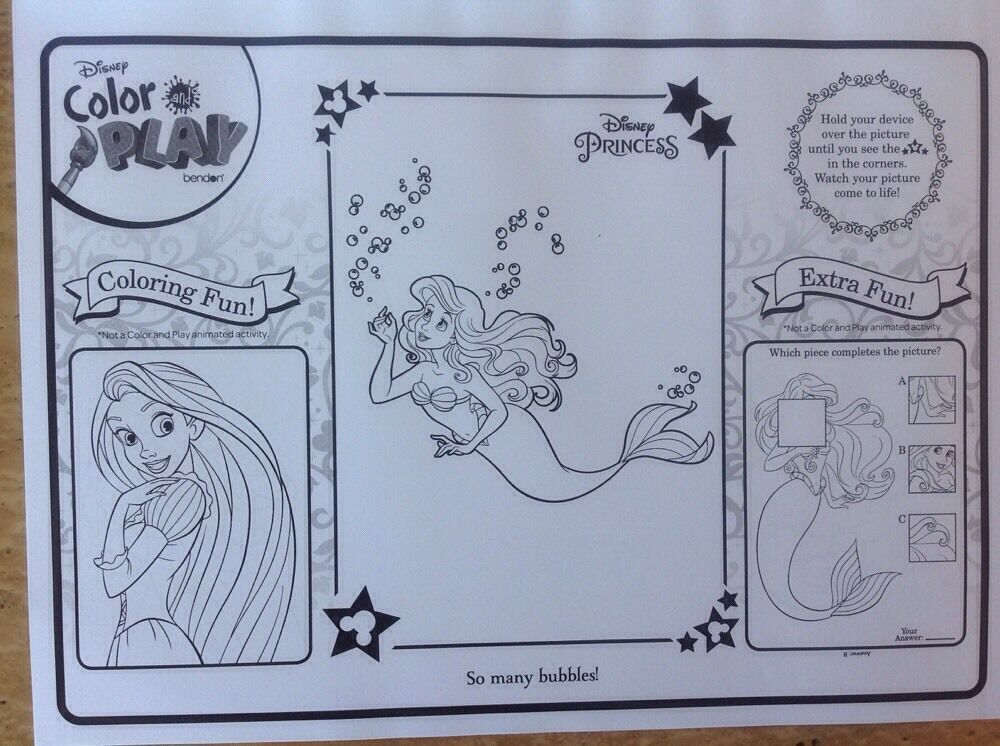 Disney Coloring Pages Come To Life : Disney princess color play book download app