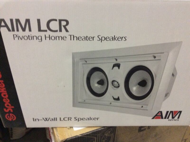 "SpeakerCraft AIM LCR 5 Dual 5-1/4"" In-Wall Speaker (Each) Black ASM84651"