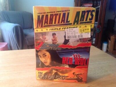 MARTIAL ARTS TRIPLE FEATURE (7 Grand Masters/Red Wolf/The New Big Boss) Sealed