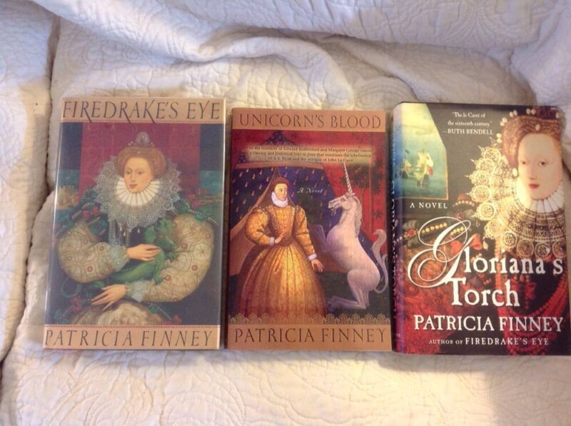 Patricia Finney Trilogy . Firedrake's Eye , Unicorn's Blood , Gloriana's Torch
