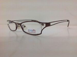 Smarth-Occhiale-Da-vista-Made-Italy-Metallo-Marrone-Particolare-A-Gatta-Estroso