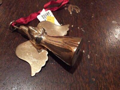 Vintage Brass Angel Christmas Ornament  3 3/8