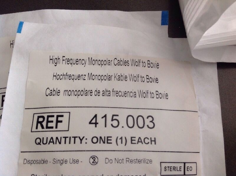 Richard Wolf High Frequency Monopolar Cable Wolf to Bovie Ref 415.003