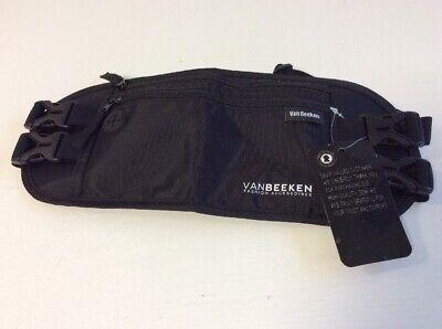 Van Beeken Flache Bauchtasche Hüfttasche RFID Blocker + 2 Hüftgurten Schwarz B1+
