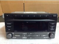subaru 6 disc cd player / radio double din
