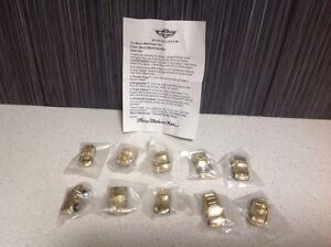 Full Set Of 10 Gold Promo Micro Machines With Letter