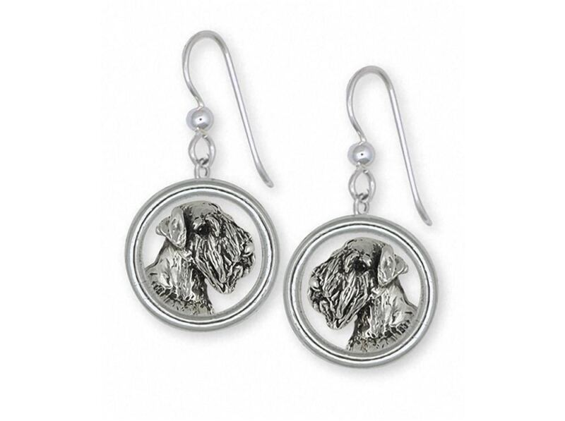 Sealyham Terrier Earrings Jewelry Sterling Silver Handmade Dog Earrings SEM1H-DE