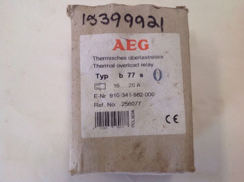 AEG Thermal Overload Relay E--NR-910-341-982-0