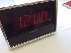 Vintage Micronta Red LED Wall Desk Clock 12 or 24 Hour Large Display