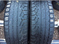 205 65 17 Pirelli 96H 6mm Tread Matching Pair Winter Tyres Non Runflat