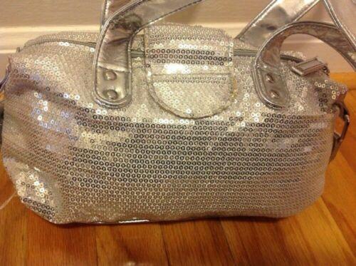 Justice Girls Purse Silver Sparkle Sequins Handbag Bag