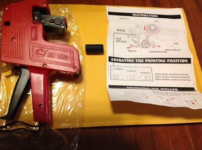Price Tag Gun Labeler Mx-5500 Eos 8 Digits Labeller Included Labels Ink Refill
