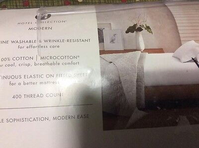 Hotel Collection MDRN WHN SLD 400 Thread Count  King Sheet Set Gray Collection 400 Thread