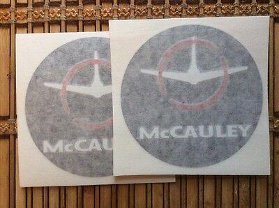 McCAULEY PROPELLER AIRCRAFT PROPELLER DECALS  *SET OF 2!*