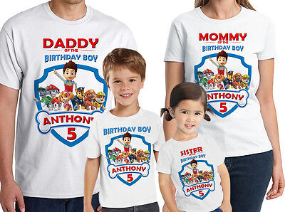 Paw Patrol Shirt Personalized Paw Patrol Birthday T-Shirt Custom Name and Age