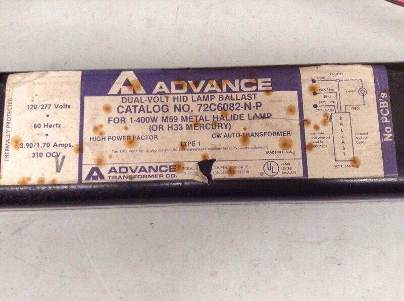 PHILIPS ADVANCE 72C6082NP001 HID BALLAST Dual Volt F Metal Halide NO BOX NEW