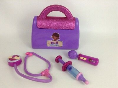 Doc Mcstuffins Toys Doctor Bag and Doctor Tools 4pc Lot Disney Talking Otoscope