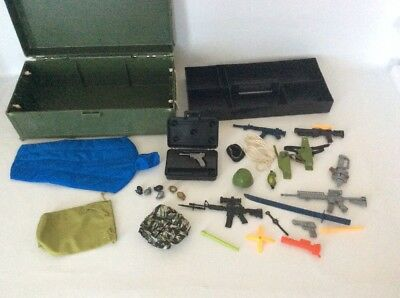Vintage Gi Joe Lot 1993 Ammo Box Clothes Guns And Accessories