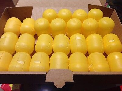 25 leere Ü-Ei Kapseln von Ferrero; basteln, hochzeit, aufbewahren Gelb