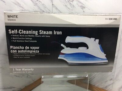 Self-Cleaning Steam Iron - White  NEW IN BOX