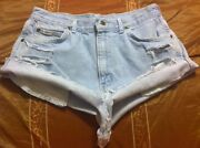 Size 16 High Waisted Denim Shorts