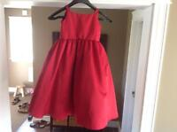 Red flower girl dress, or party dress