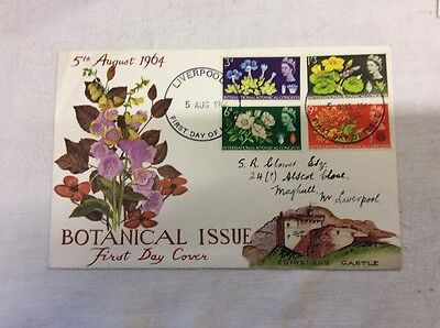 2 x First Day Covers Botanical Phosphor & Botanical Plain 5rh August 1964.