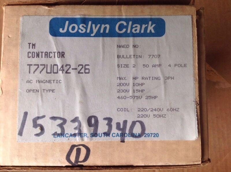 Joslyn Clark Contactor T77U042-26