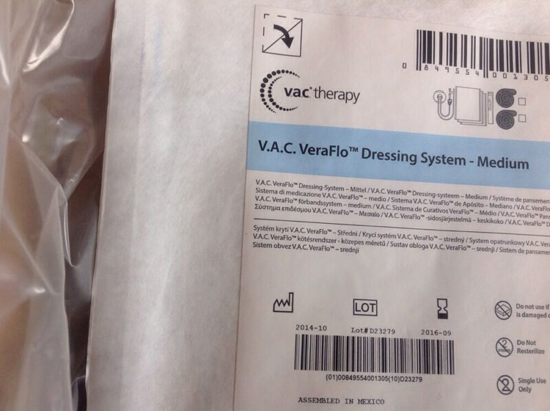 KCI VAC Veraflo Dressing System Medium Ref ULTVFL05MD 5pcs