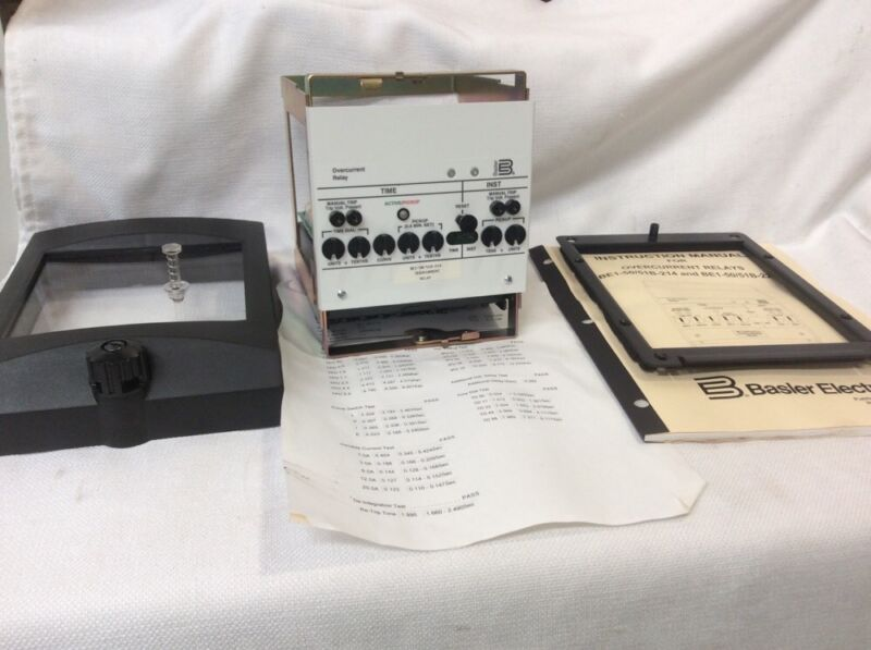 New! Basler Electric BE1-50/51B-214 Overcurrent Relay