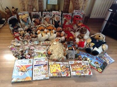1970's 90's Retro Rare vintage wombles of Wimbledon common Collectable Job Lot