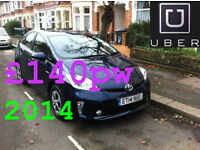 PCO Toyota Prius to rent Uber ready Cars on Cheap rents £135 Limited Time Offer