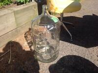 Large DEMIJOHN ....glass bottle, super clean