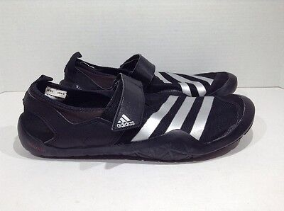 Adidas Climacool Jawpaw Men's Size 9 Black Silver Outdoor Water Shoes ZT-47 *