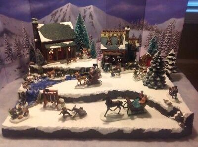 Christmas Village Display Base Platform Dept 56 Lemax Dickens Snow Village