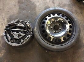 VAUXHALL ASTRA H K SPACE SAVER SPARE WHEEL WITH TOOL KIT 21601162, 115/70/16