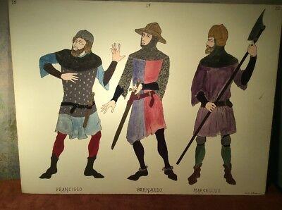 Theater Costume Design ~ James Bakkom ~ Francisco, Bernardo, Marcellus ~ Hamlet - Hamlet Costumes