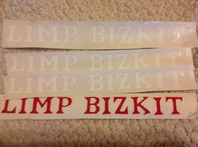 Limp Bizkit Band Logo Stickers 4 die cut stickers  Free Shipping