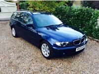 BMW 3 SERIES 318I SE TOURING FSH 2 KEYS (blue) 2004