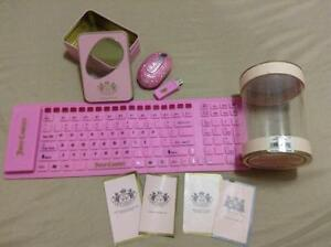 JUICY COUTURE JELLY KEYBOARD & CRYSTALLIZED MOUSE SET