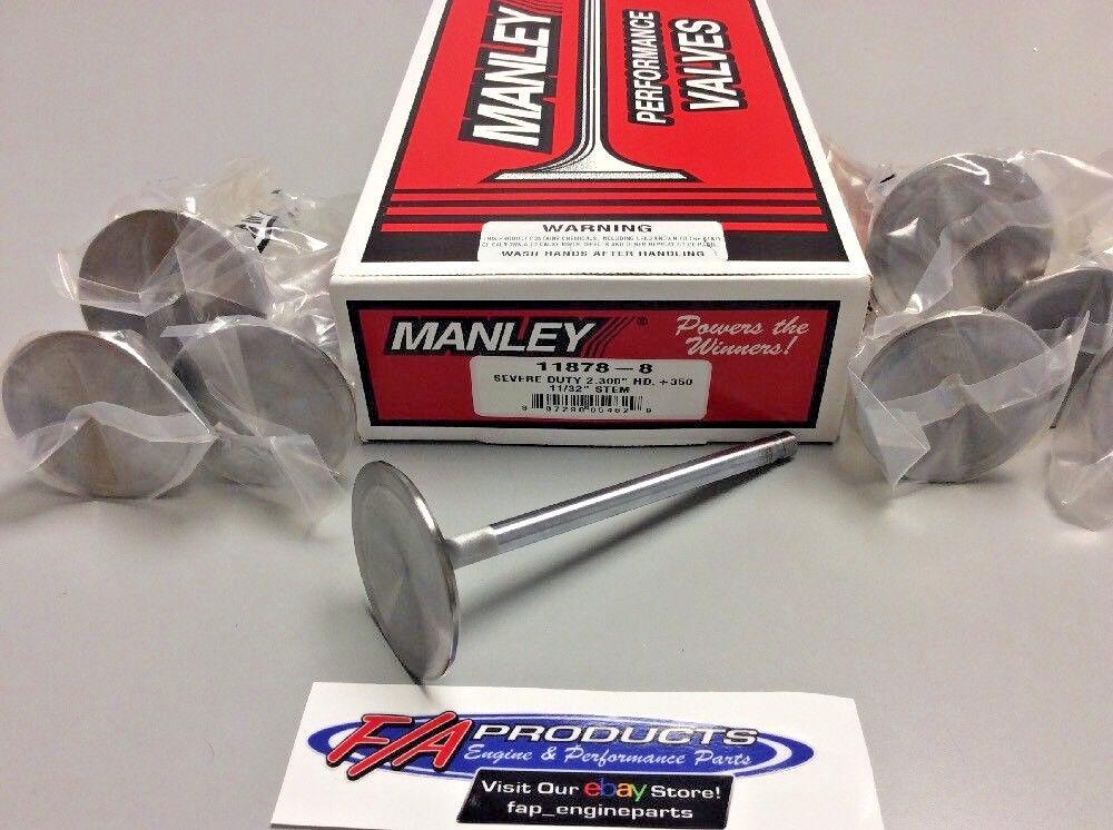 "Manley 11878-8 2.300"" Big Block Chevy Severe Duty +.350"" Intake Valves Set Of 8"
