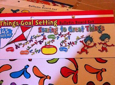 Eureka Dr. Seuss Goal Setting Bulletin Board Set