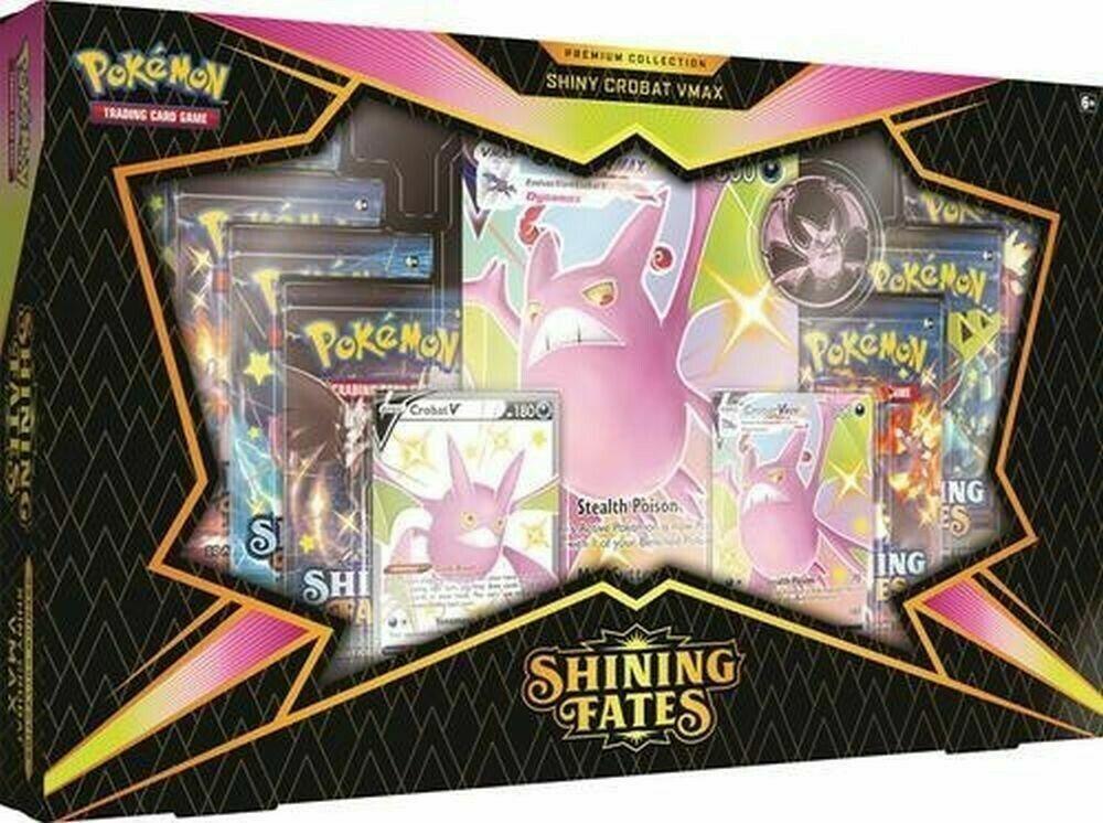 Shining Fates Premium Collection Crobat V Pokemon sealed box