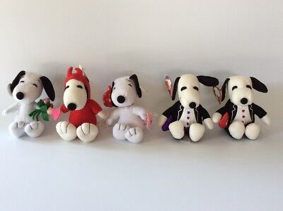 Peanuts Snoopy Valentines Day Plush Lot Of 5 Love #1