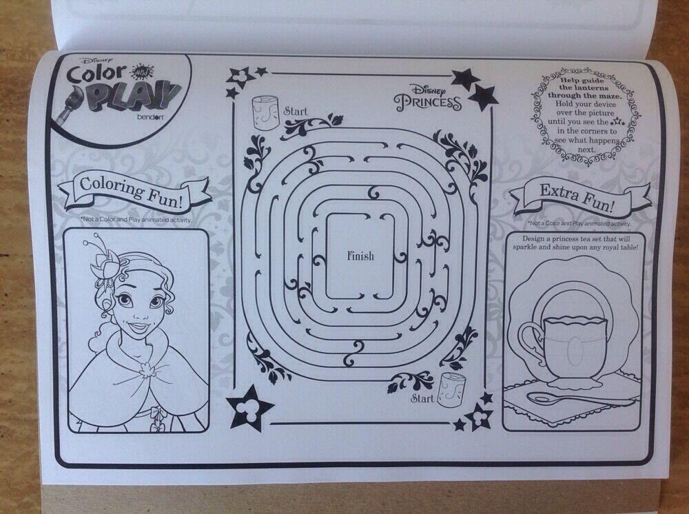 Disney Princess Color Amp Play Book