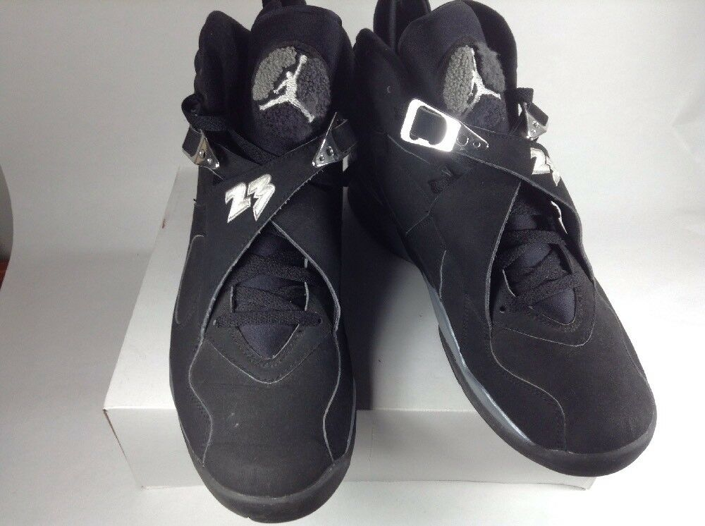 d2c096492b0d Nike Air Jordan 8 Retro 2003 CHROME Playoff Black 305381 001 Size 13 ...