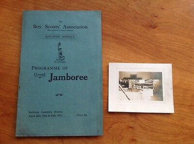 Boy Scouts Programme Of Grand Jamboree 1921 + Photo Kingston District Vintage